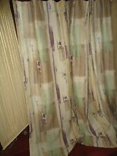 CROSCILL HORIZON TEAL AMETHYST KHAKI SOUTHWESTERN FABRIC SHOWER CURTAIN 68 X 72