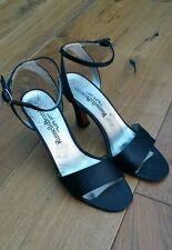 Block Satin Patternless Standard Width (B) Heels for Women