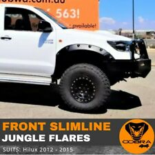 Front Slimline Jungle Flares suitable for Toyota Hilux 2012 2013 2014 2015
