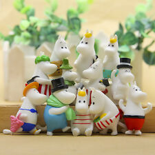 12pcs Moomin Valley Toy Snufkin Snorkmaiden Little My Sniff Animated Figures