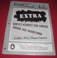 dachbodenfund prospekt heft graflex trade notes 1951 foto kamera alt reklame
