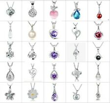 Wholesale 925 Sterling Silver Pendant Necklace Women Girl Jewellery Xmas Gift