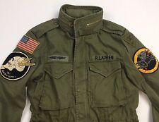 Denim Supply Ralph Lauren Men Military USA Army American Flag Skull Field Jacket
