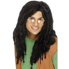 Black Dreadlock Wig Mens Fancy Dress Costume Party Accessory