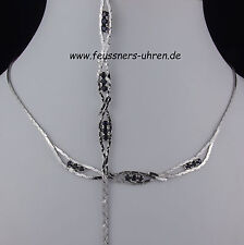 SET Kette + Armband Silber 835 Saphire  43 + 19 cm 6,5 mm Collier