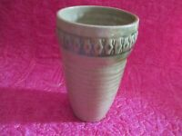 Handcrafted  Hand Thrown  Glazed Art Pottery  Vase   -  Signed by Artist