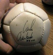 Carla overbeck mini replica usa soccer ball ( with replica autograph)