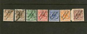 German New Guinea Over Stamp Set z8 to z13 Cat $300