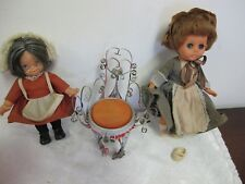 VINTAGE UNEEDA DOLLS GRANNY GRANNYKINS METAL SCROLL BEER CAN CHAIR VINYL  DOLL