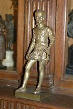 Antique Period French Patinated Bronze Statue Henry Iv Fantastic Detail C.1880