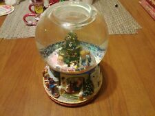 Partylite Christmas Holiday Tealite Music Box 2002 Snow Globe Dome P7655 Xmas