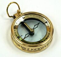 Brass Vintage Repro Spencer & Co. London 1905 Nautical Compass, Magnifying Glass