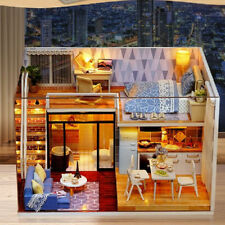 1:24 DIY Miniature Dollhouse Dolls House Furniture Kit Accs -Blue Times