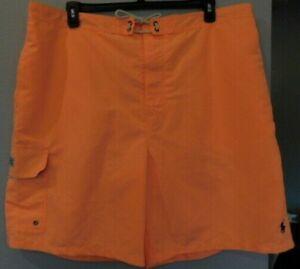 NEW Men's POLO RALPH LAUREN Muted Orange Swim Trunks 3XB (3XL BIG) 8.5 inseam