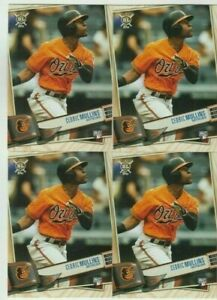 (4) Cedric Mullins 2019 TOPPS BIG LEAGUE ROOKIE CARD LOT #204 BALTIMORE ORIOLES