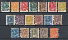 Canada Sc 104-122 MNH. 1911-1925 KGV Admiral definitives cplt, premium quality
