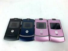 lot of 4 Retro Original Motorola V3 Razr Silver Verizon Cellular Phone Razor