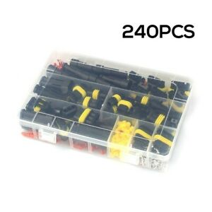 240 Pcs 1-6Pin Automotive Waterproof Car Auto Electrical Wire Connector Plug Kit