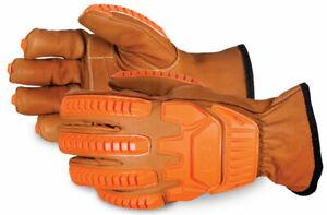 Superior Gefüttert Treiber Handschuh Mit Anti-impact D30 Rücken Größe L - Pack