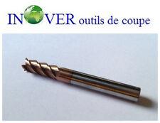 Fraise Carbure  Diam10x10x25x75mm 4 Dents Revêtue  HRC65  Finition d'acier inox