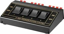 Goobay Speaker 4 Way Switch Box Black (Connect up to 4 pairs of speakers)