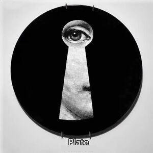 """Fornasetti Big Eyes Lina Face Milan Decorative Ceramic Wall Plate Home Office 8"""""""