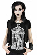 Hip Length Cotton Regular Size Gothic T-Shirts for Women