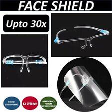 Safety Full Face Shield Cover Goggles Visor Cap Anti-splash Protector upto 30x