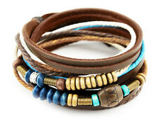 TIBET WICKELARMBAND SERIE 13! ECHT LEDER Armband Leather Bracelet!Surferarmband