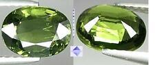 SI 1.44ct ZAFFIRO NATURALE di SRI LANKA - Verde Olio di Oliva - lucentezza AAA
