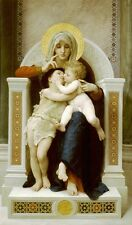 Virgen Niño Jesús Juan Bautista Bouguereau lienzo o cartel de Impresión Fine Art