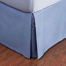 Hudson Park 800 TC Egyptian Cotton KING Bedskirt DELFT BLUE A423
