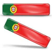 Autocollants 3D Drapeau Portugal Portugais National Portuguese Flag Stickers F17
