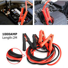 2M 1000A Jumper Battery Cables Booster Jump Start Reverse Polarity Protection