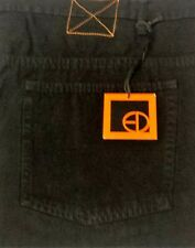 "Black Canvas Jeans From Ed Baxter 100% Cotton. 50""Waist 30""Leg."