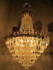 """Vintage French Gigantic Swarovski Crystal Chandelier Ceiling Lamp 1960's 18"""" Dmt"""