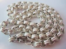 MONET VTG CHUNKY SILVER NECKLACE...SIGN TAG ...24 INCHES