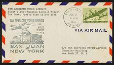 1946 FIRST FLIGHT FAM 5-156 SAN JUAN, PUETRO RICO TO NEW YORK, NY(ESP#1713)