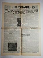 N818 La Une Du Journal Le Figaro 7 mai 1947 conseil national S. F. I. O