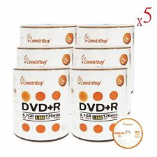 3000 Smartbuy 16X DVD+R 4.7GB Branded Logo Top Data Video Blank Recordable Disc