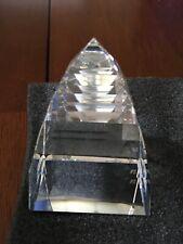 swarovski crystal pyramid paperweight