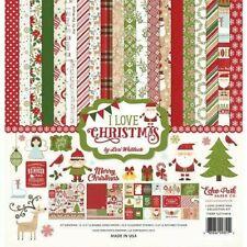Christmas Season Santa Snowman Gingerbread Echo Park Scrapbook Page Kit 12 x 12