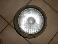 Ancien Phare Cibié E2 154 Rond  Pour Pièce Verre Optique