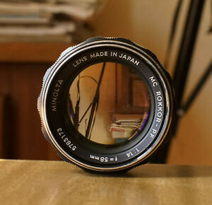 Minolta MC Rokkor 58mm f1.4 Prime Lens Very Good Condition