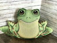 """Adorable Frog Tapestry Throw Pillow 21"""" x 11""""  Froggies Pond ** 2 Available"""