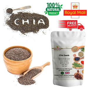 Organic Chia Seeds 100% Raw & Natural Premium Quality Weight Loss Raw Whole Diet