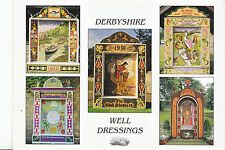 Derbyshire Postcard - Five of The Annual Tradition of Well Dressings  DD714