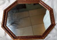Vintage Hollywood Regency Gold Gilt HEAVY Wood Mirror Mid Century MCM 34x28, 29x