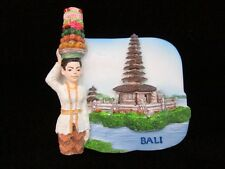 FRIDGE MAGNET 3D SCULPTURE MEMORIAL PURA ULUN DANAU TEMPLE, BALI SOUVENIR ;