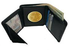 Black Leather Concealed Carry Badge Shield Holder Wallet Security Officer